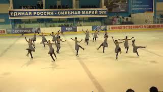 Чемпионат России по синхронному катанию  MC  ПП 2 Татарстан КАЗ