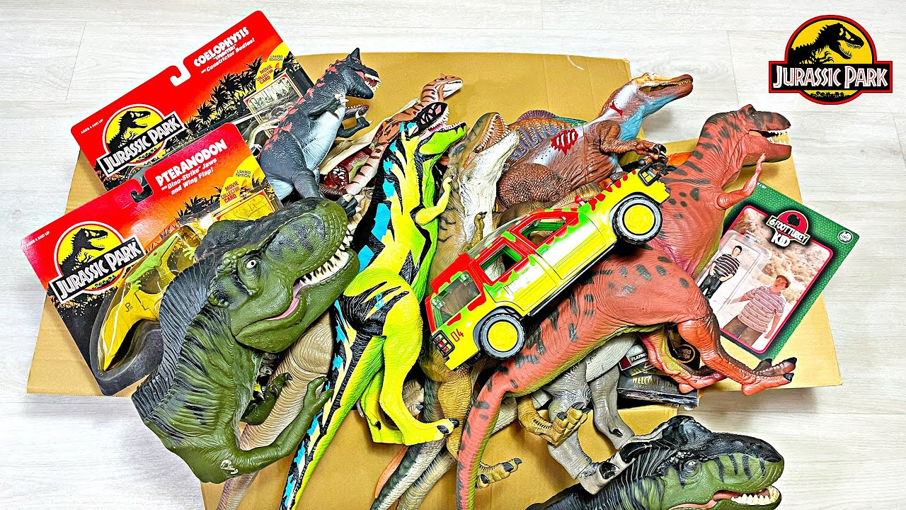 My 100 Jurassic Park Dinosaurs in a Box Collection - Rare dinosaurs