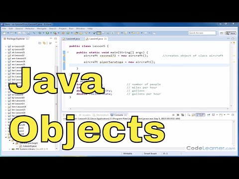Java Programming Tutorial - 05 - Storing and Accessing Instance Variables of an Object