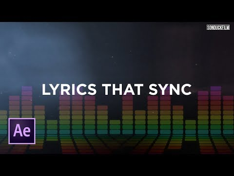 Sync Text To Music | Create Lyric Videos | After Effects Tutorial