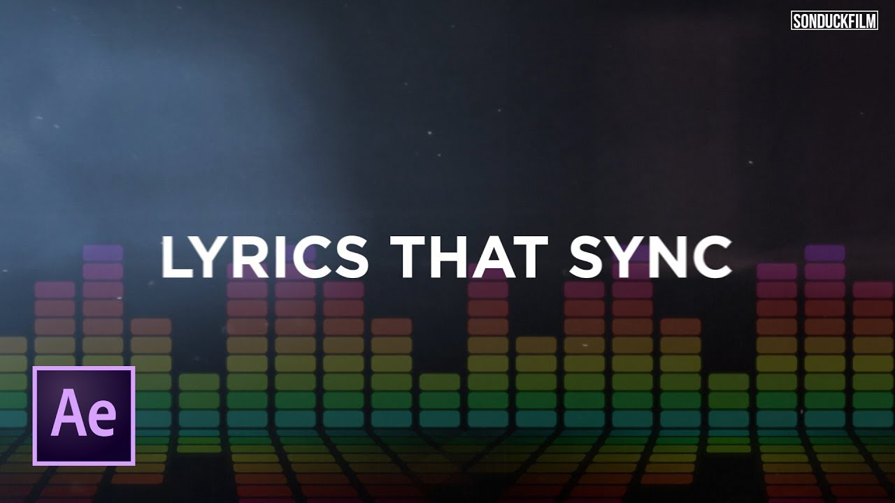Sync Text To Music Create Lyric Videos After Effects Tutorial