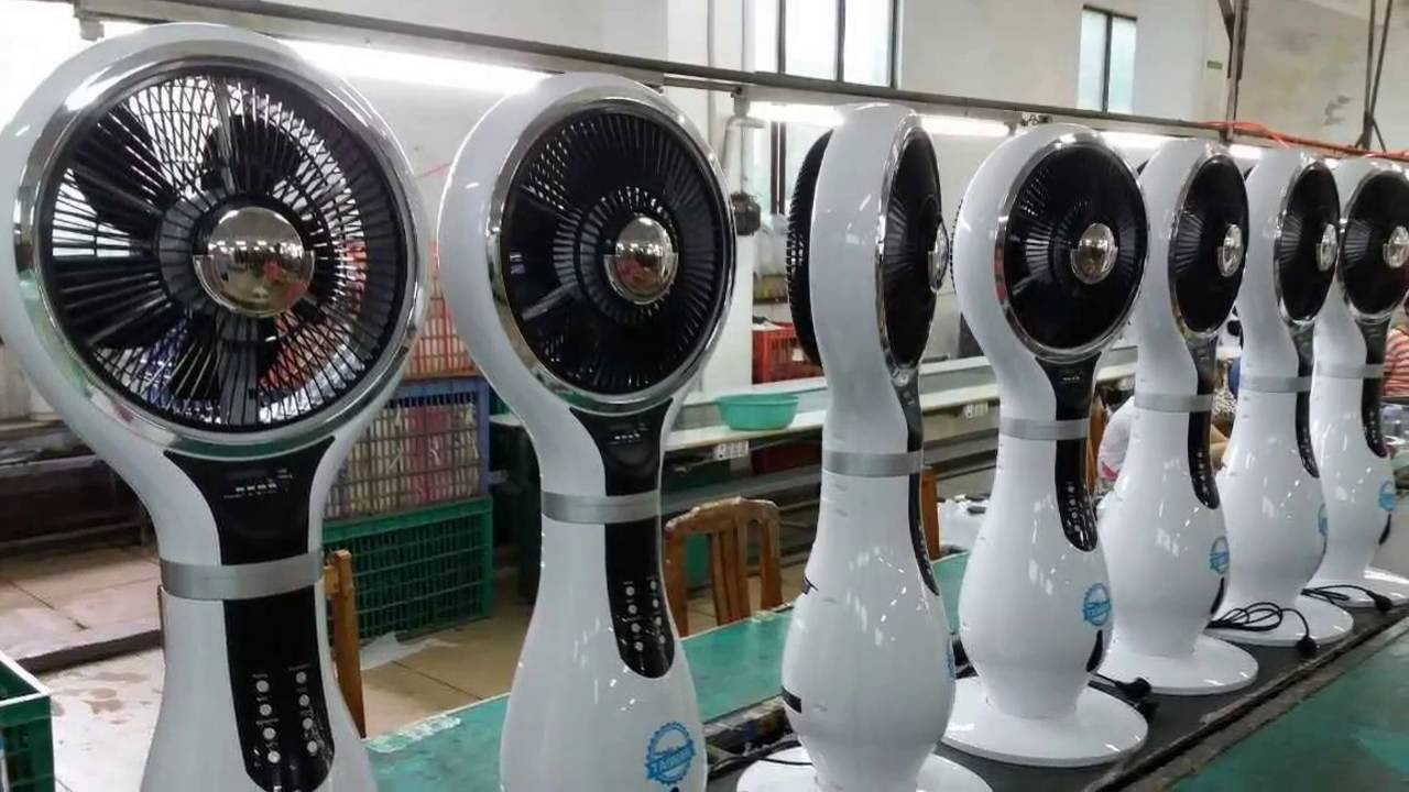 water cooler misting fan air circulation cooling fan functional music misting fan - Misting Fan