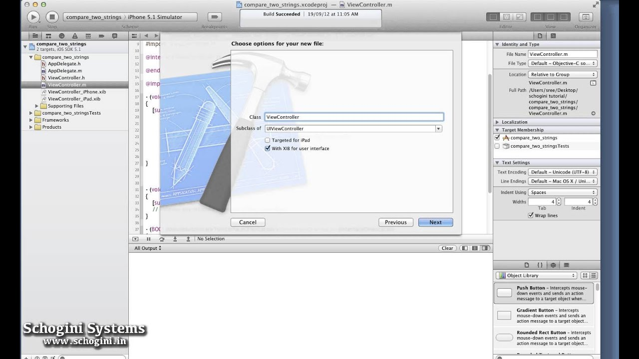 05 03 Creating New View Controller Class - iOS Xcode Tutorial Part 05