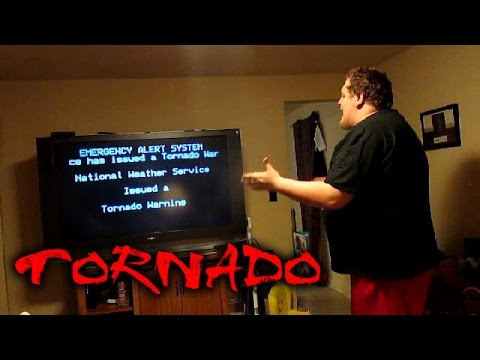 TORNADO PRANK ON HUSBAND!!! (GONE WRONG!)