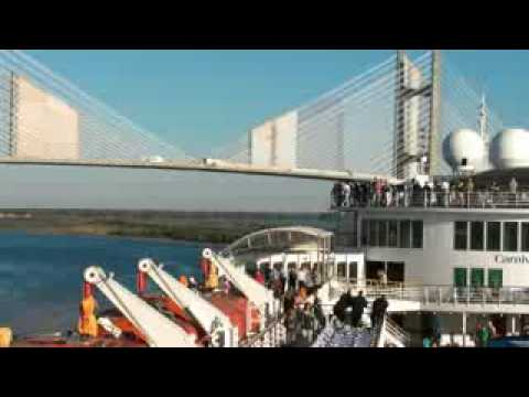Carnival Fascination Leaving Port in Jacksonville, Florida