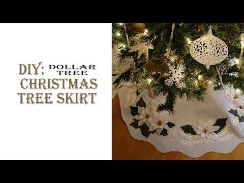 Christmas DIY / Tree Skirt / Dollar Tree