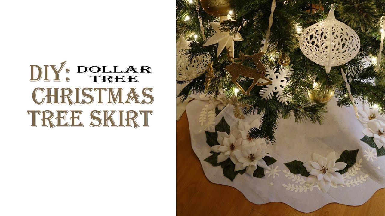 christmas diy tree skirt dollar tree - Diy Christmas Tree Skirt