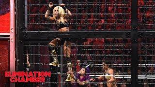 Bayley & Sasha exhibit teamwork in  WWE Women's Tag Team Title war: WWE Elimination Chamber 2019