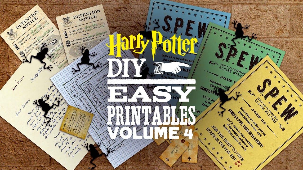 Diy Harry Potter Printables Vol 4 Youtube