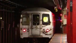 mta new york city subway 95th street bound r train via the m court square 23rd street