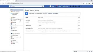 Facebook page settings  to activate follower option in Facebook
