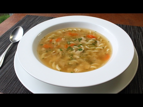 One-Step Chicken Soup - Dump And Simmer Chicken Noodle Soup For Lazy Sick People