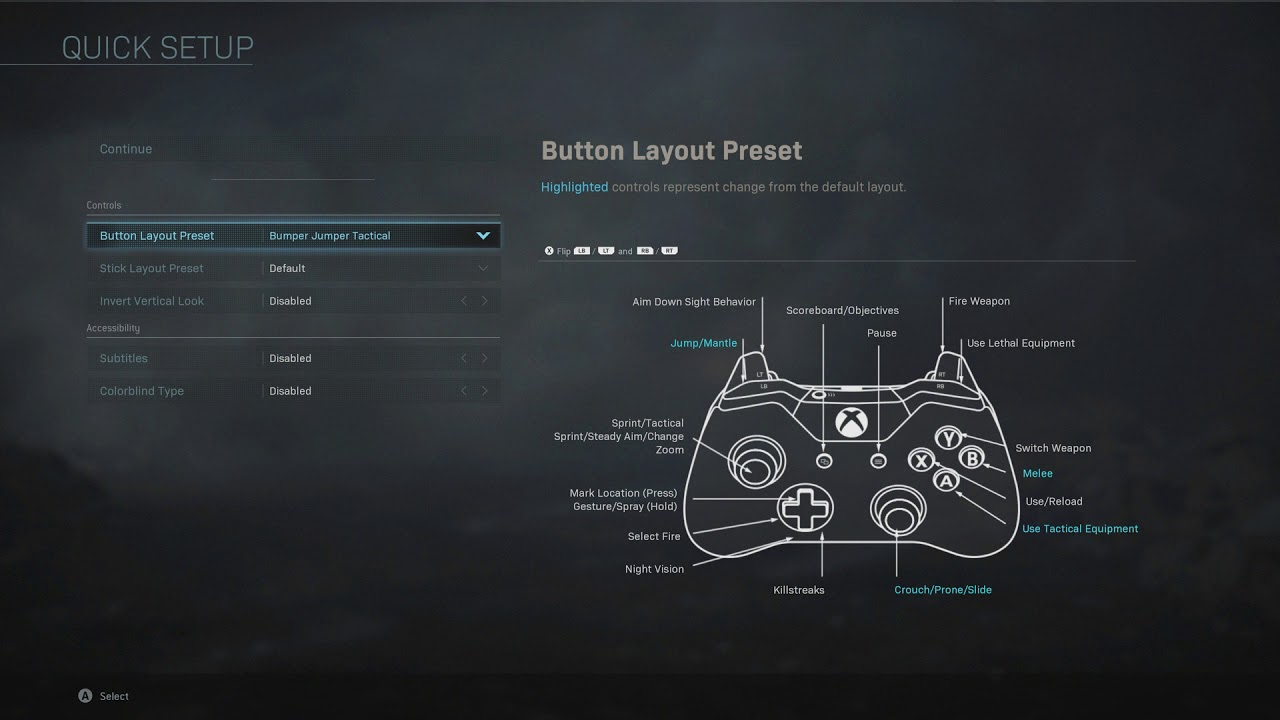 Call Of Duty Modern Warfare Xbox One Controller Button And Stick