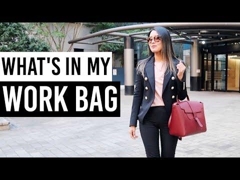 What's In My Work Bag 2019, How I Organise My Work Bag   Senreve Maestra Bag!   AD