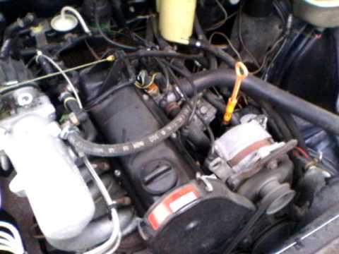 Audi 100 C3. Холодный запуск