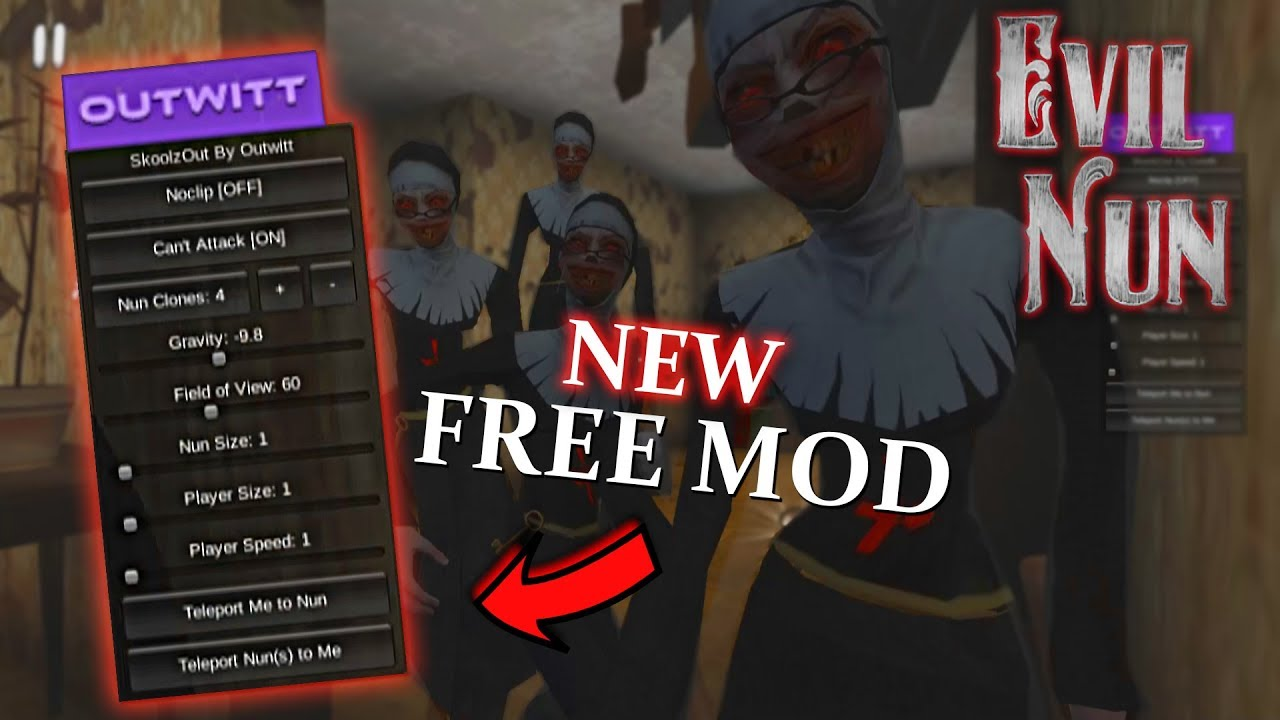 Evil Nun: NEW Mod Menu apk Download   2018 Update 1.1.7 ...  Evil Nun: NEW M...