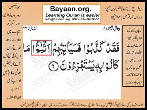 Quran in urdu Surrah 026 Ayat 006 Learn Quran translation in Urdu Easy Quran Learning