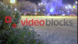 Frozen rain in European city |4k Stock Footage