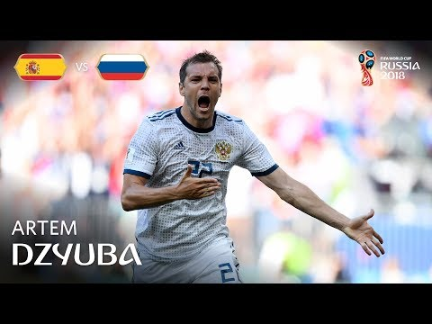 Artem DZYUBA Goal - Spain V Russia - MATCH 51