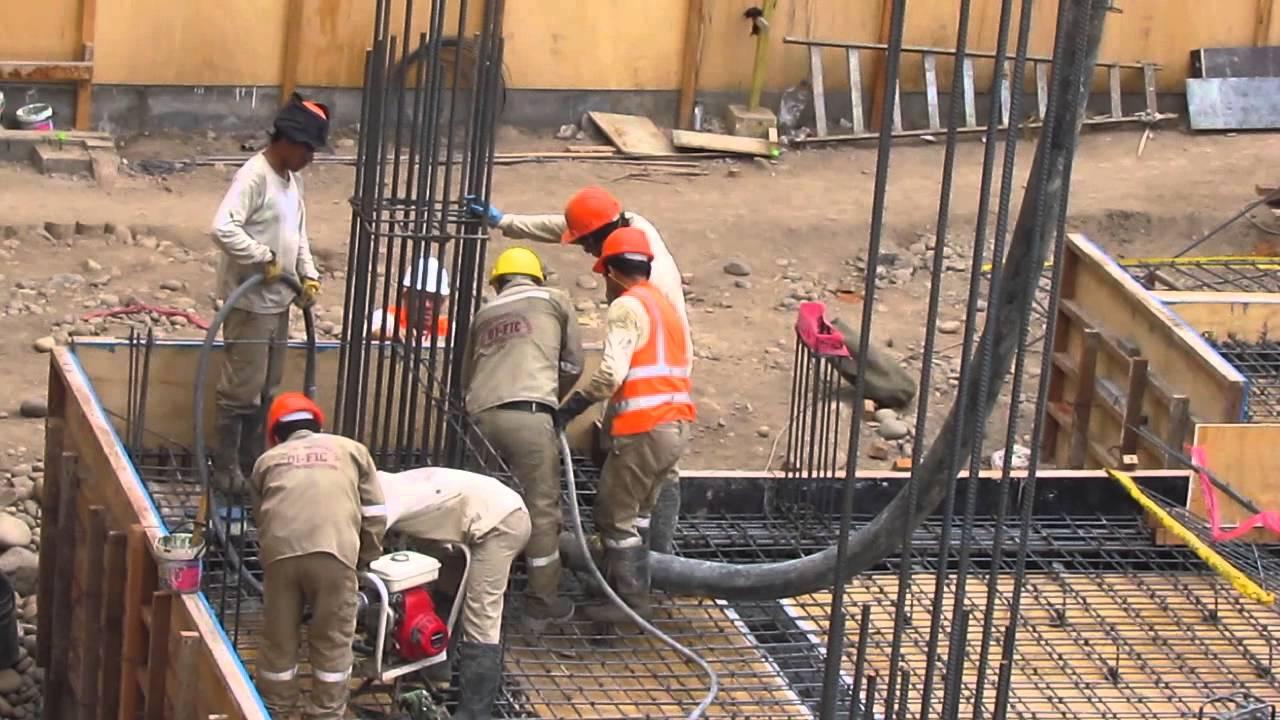 Vaciado de concreto con bomba sobre aisladores youtube - Losas de hormigon para jardines ...