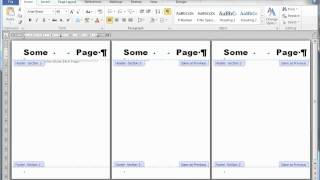 Page numbering, Headers, Cover Pages and Sections in MS Word