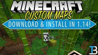 How To Download & Install Minecraft Maps in Minecraft 1.14 (Get 1.14 Custom Maps!)