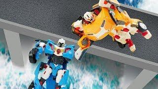 Видео про машинки и роботов для мальчиков. Тоботы преследуют нарушителя! Приключения игрушек
