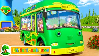 School Bus Song - The Wheels On The Bus   Nursery Rhymes & Kids Songs by Little Treehouse
