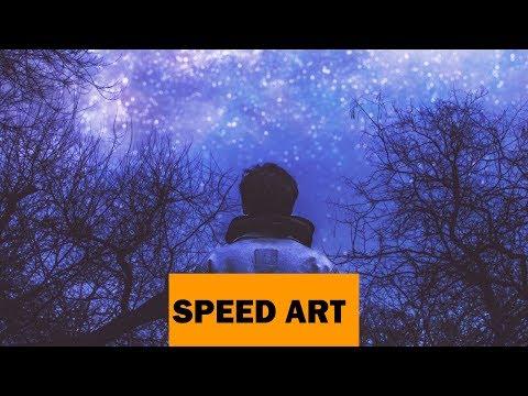 #SPEEDART. Быстрая обработка. Звёздное небо. Photoshop.