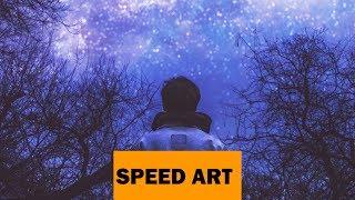 #SPEEDART. Быстрая обработка. Звёздное небо. Photoshop