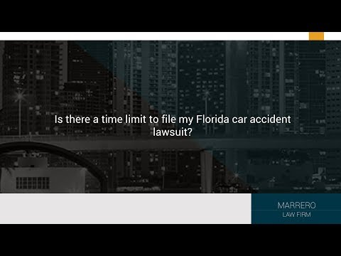 Is there a time limit to file my Florida car accident lawsuit?