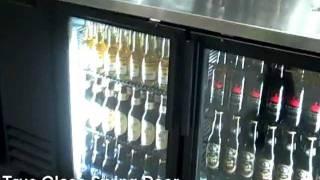 True Glass Swing Door Back Bar Refrigerator