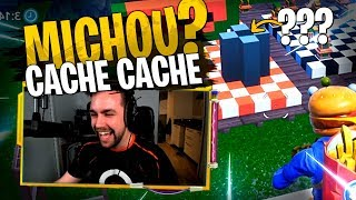 Michou encore le premier trouvé sur ce Cache Cache avec la Team Croûton sur Fortnite Créatif ?