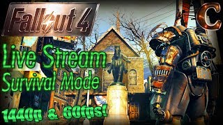 Fallout 4 Live Stream Survival Mode in 1440p 60fps, Part 29: T-51 Power Armor & Sugar Bombs Paint