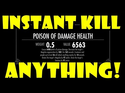 Skyrim one hit kill anything setup build best weapon legit damage in