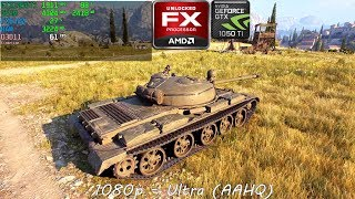World of Tanks enCore | AMD FX8320 | GTX 1050ti | Benchmark #1
