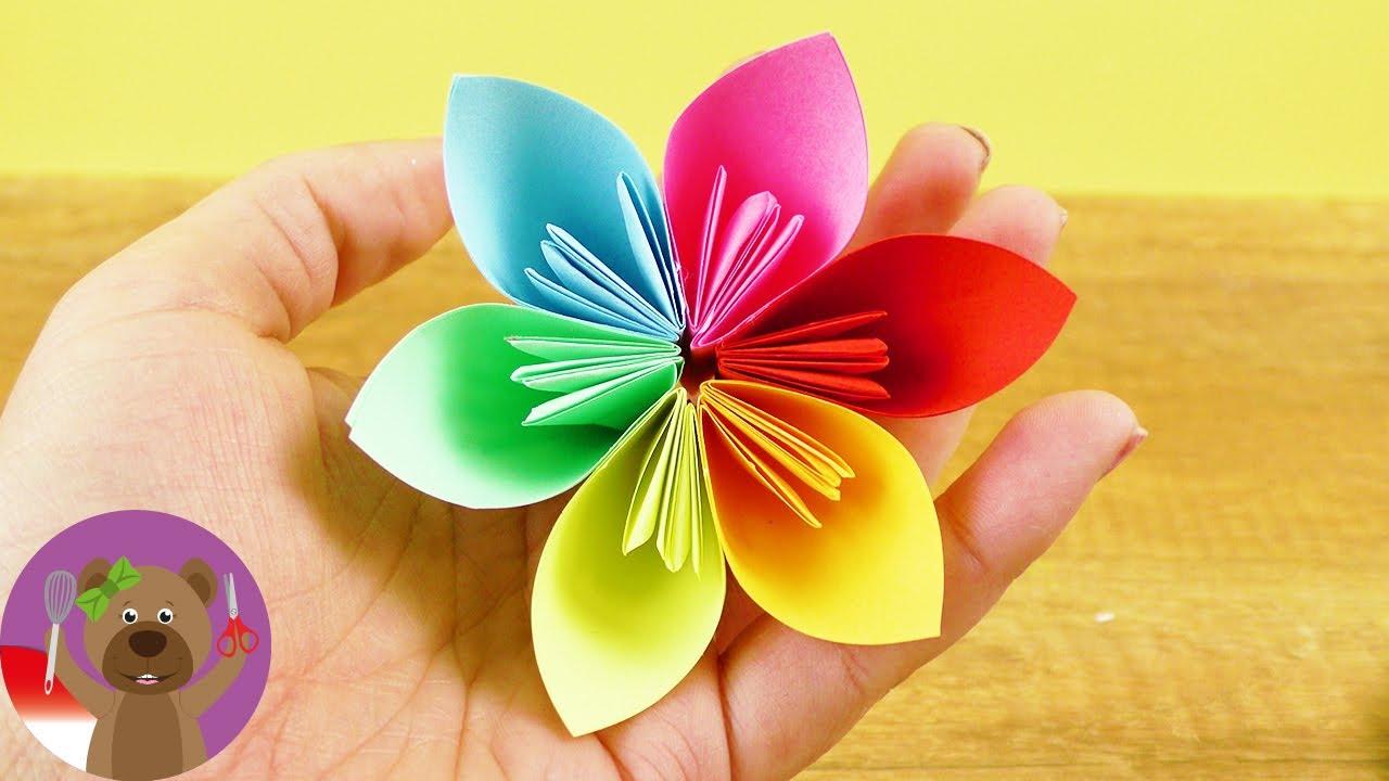 Bunga dari Kertas Persegi - Ketrampilan - Dekorasi rumah