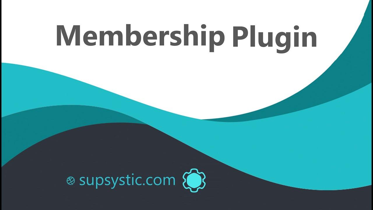 Membership by Supsystic – WordPress plugin | WordPress org