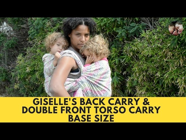 Giselle's Back Carry knotless, with Double Torso Front Carry