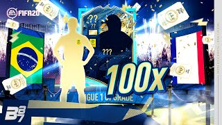 WOW! 100 X LIGUE 1 UPGRADE PLAYER PICKS! | FIFA 20 ULTIMATE TEAM