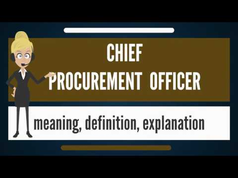 What is CHIEF PROCUREMENT OFFICER? What does CHIEF PROCUREMENT OFFICER mean?