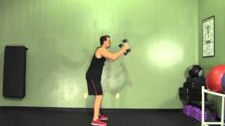 Dumbbell Clean + Front Squat + Press - HASfit Compound Exercises - Total Body Exercise