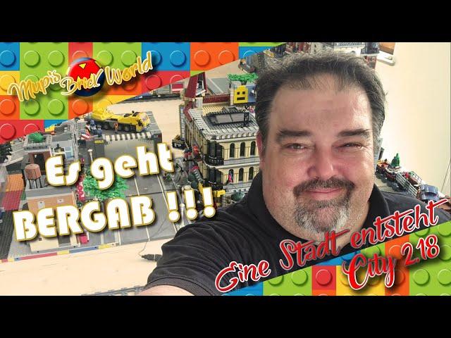 ES GEHT BERGAB !!! - Bau einer Lego Stadt - Lego City Update 18