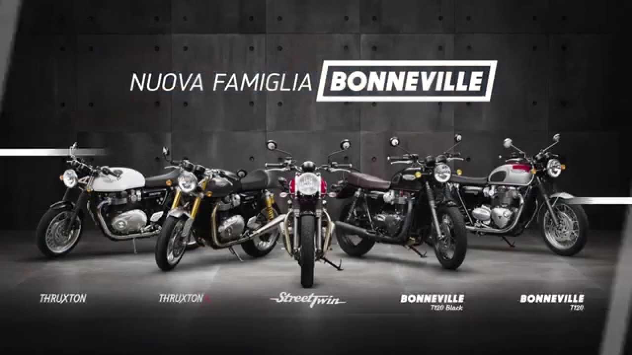 gamma triumph bonneville: t120, street twin e nuova thrxton - youtube