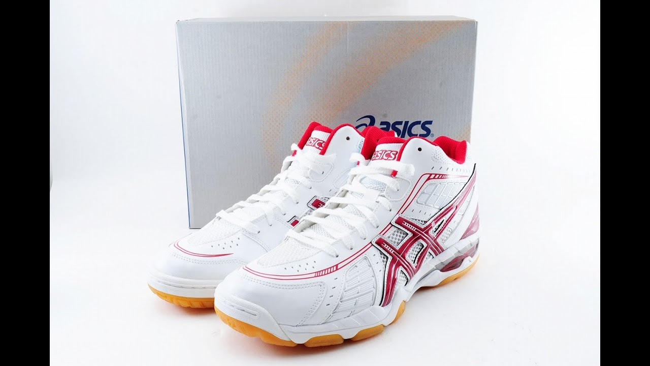 ASICS Japan Men's ROTE SURPASS 4 MT Volleyball Shoes TVR463 White Red 95227