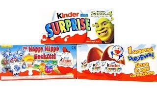 Раритетные Киндер Сюрпризы #22 ШРЕК 4, Свадьба Бегемотов, Дораэмон Kinder Surprise eggs unboxing