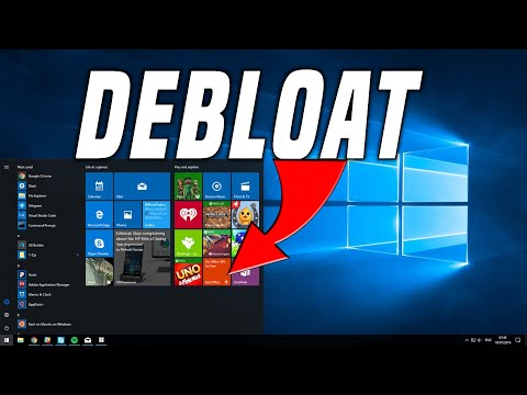 Debloat Windows 10