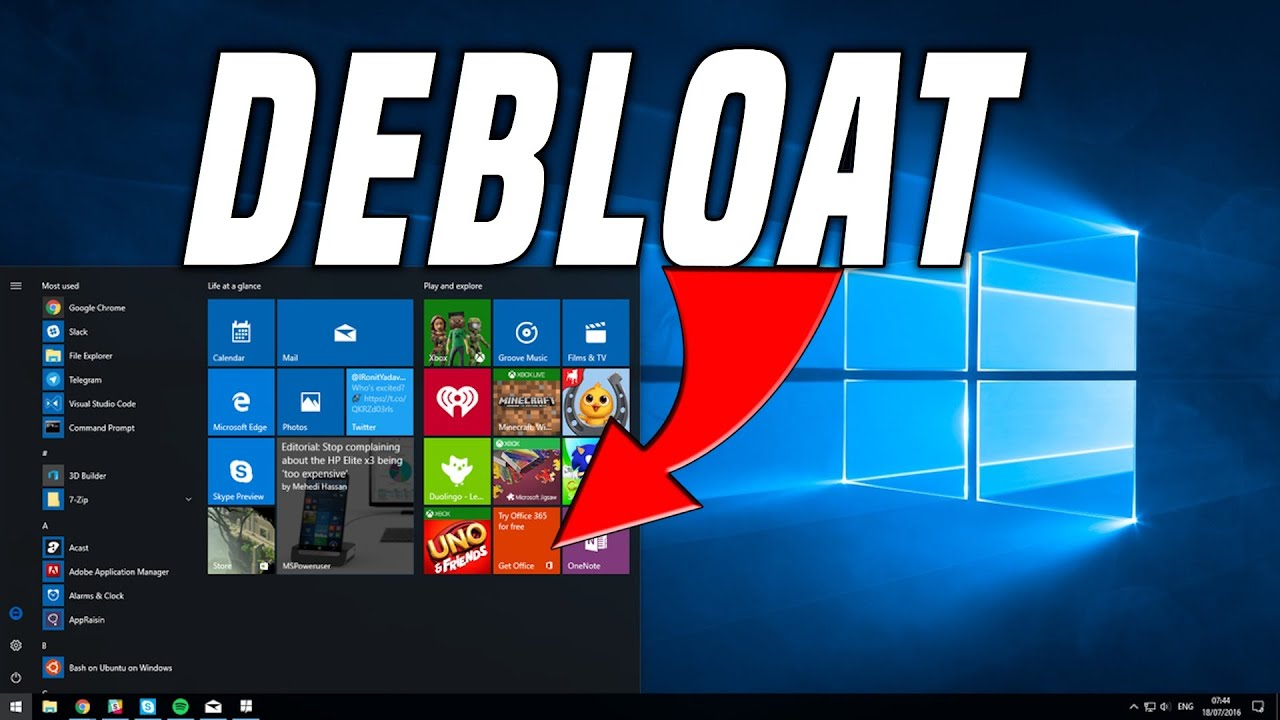 Debloat Windows 10 | The easy way to get rid of the junk!