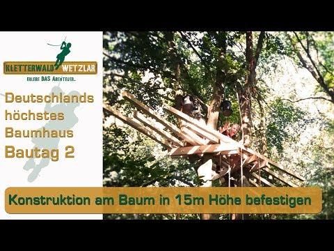 Baumhaus selber bauen Tag #2 der Baustelle Übernachtung im Kletterwald treehouse camping DIY