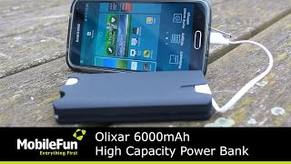 Olixar 6000mAh High Capacity Power Bank with Built-in Cable
